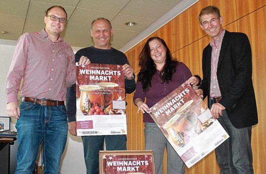 """Ihre Teams wollen den Heddesheimer Weihnachtsmarkt ab 28. November auch diesmal wieder """"wuppen"""": ..."""