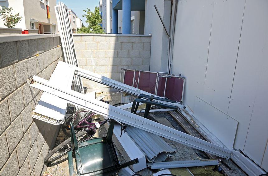 Schäden nach der Explosion am 23. Juli.