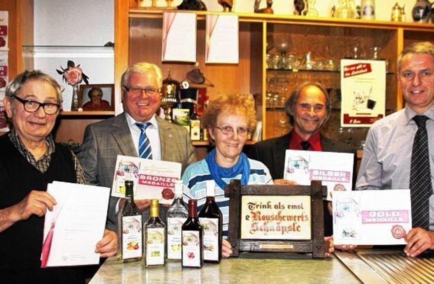 Schnäpse und Liköre der Familie Link-Di Lenarda wurden vom Verband Badischer Klein- und Obstbrenner ...