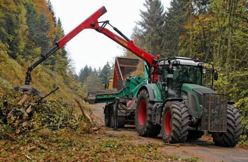 An der Dornberger Steige finden derzeit Forstarbeiten statt, wegen denen die Straße gesperrt ist.