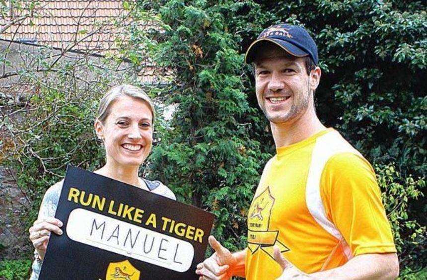 Startet am Sonntag beim New York-Marathon: Manuel Göttlicher aus Ladenburg. Ehefrau Cornelia will ...
