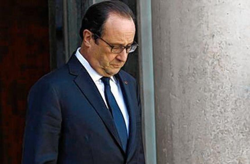 François Hollande, der unbeliebte Präsident.