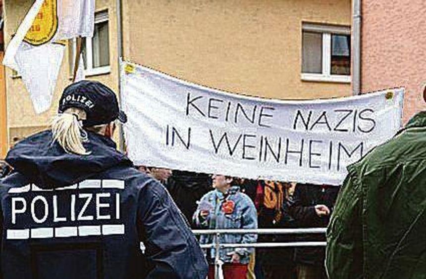 2013 tagte die Bundes-NPD in einem Lokal in Weinheim-Sulzbach.