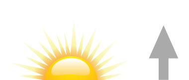 Sonnenaufgang Symbol