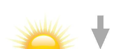 Sonnenuntergang Symbol